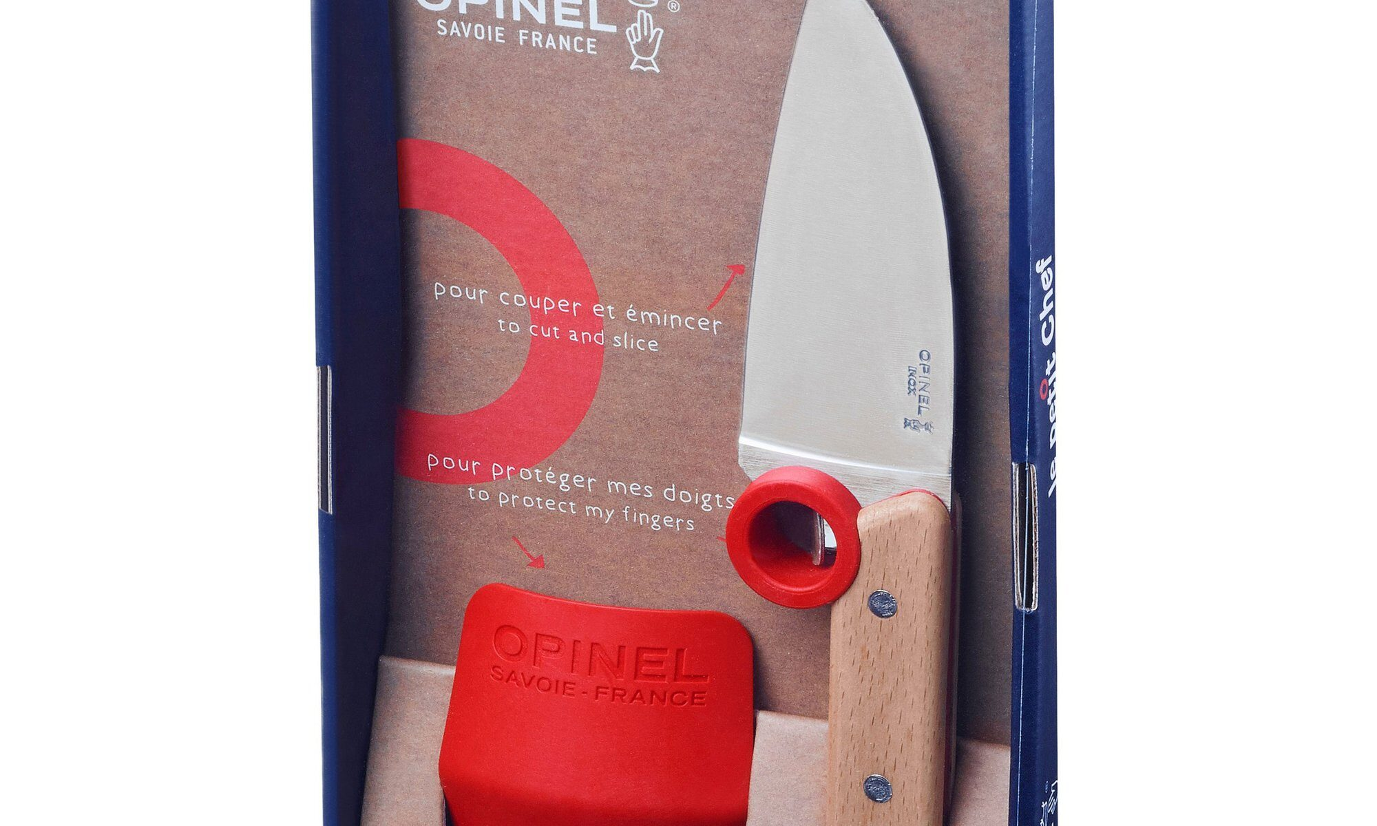 Image of the package of Opinel Le Petit Chef Knife Set