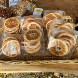 Image of dehydrated citrus in the stand