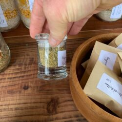 Image of the half ounce jar of fennel pollen