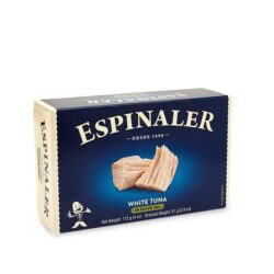Image of the front of a package of Espinaler White Tuna in Olive Oil
