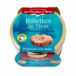 Image of the top of a jar of Les Mouettes d'Arvor Rillettes de Thon au Fromage Frais (Rillettes of Tuna with Fromage Frais)