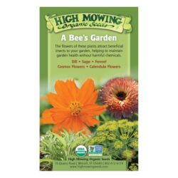Image of the front of the box for the A Bee's Garden Organic Seed Collection