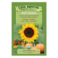 Image of the front of the box for the Kid's Garden Organic Seed Collection