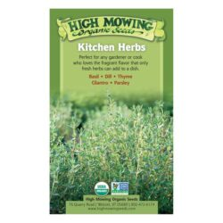 Image of the front of the box of Kitchen Herbs Organic Seed Collection