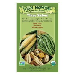 Image of the front of the box for the Three Sisters Organic Seed Collection