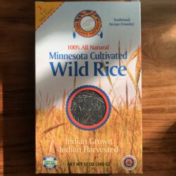 Image of the front of a package of Red Lake Nation Foods Wild Rice