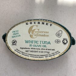 Image of the front of a package of Conservas de Cambados White Tuna in Olive Oil