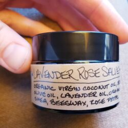 Image of a container of Lavender Rose Salve