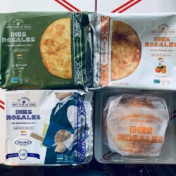 Image showing the packaging for several flavors of Ines Rosales tortas