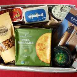 Image showing the contents of the Salty Fisherman Gift Basket