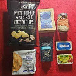 Image showing the contents of the Winter Picnic Gift Basket
