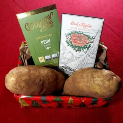 Image showing the contents of the Couch Potato Gift Basket