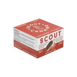 Image of the front of the package of Scout PEI Mussels