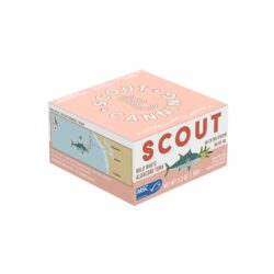 Image of the front of the package of Scout White Tuna in Extra Virgin Olive Oil