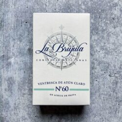 Image of the front of the package of La Brújula Ventresca de Atun Claro (Yellowfin Belly)
