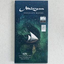 Image of the front of a bar of Mirzam Dark Chocolate 62% with Dates & Fennel
