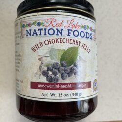 Image of the front of a jar of Red Lake Nation Foods Wild Chokecherry Jelly
