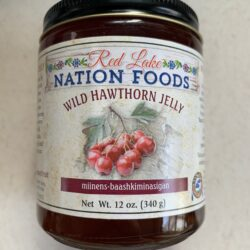 Image of the front of a jar of Red Lake Nation Foods Wild Hawthorn Jelly