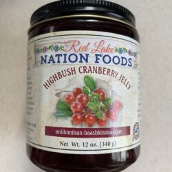 Image of the front of a jar of Red Lake Nation Foods Highbush Cranberry Jelly