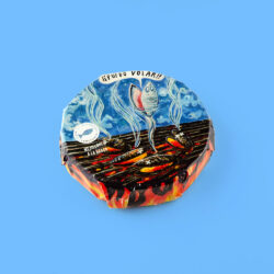 Image of the front of a package of Güeyu Mar Chargrilled Mussels