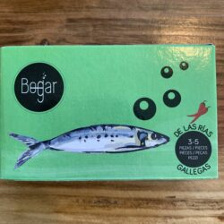 Image of the front of a package of Bogar Sardines in Spicy Oil