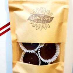 Image of a Homemade Peanut Butter Cups packaged in a bag.