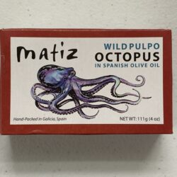 Image of the front of a package of Matiz Octopus in Olive Oil