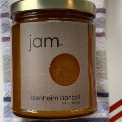 Image of the front of a jar of Blenheim Apricot Jam