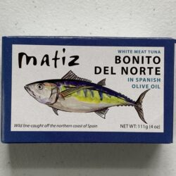 Image of the front of a package of Matiz Bonito del Norte in Spanish Olive Oil