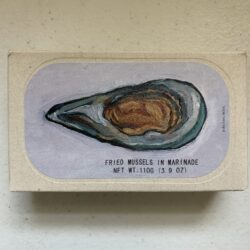 Image of the front of a package of José Gourmet Fried Mussels in Marinade (Escabeche) 7/10