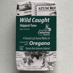 Image of the front of a package of Santa Catarina Tuna Fillets in Olive Oil and Oregano