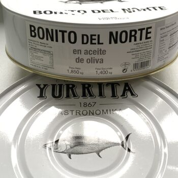 Image of a stack of two Yurrita Bonito del Norte in Olive Oil, 1850g, Large Format