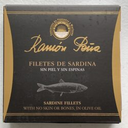 Image of the front of a package of Ramón Peña Boneless & Skinless Sardine Fillets in Olive Oil
