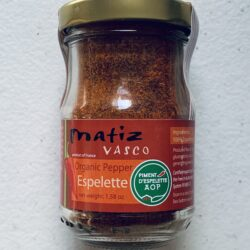 Image of the front of a jar of Piment d'Espelette