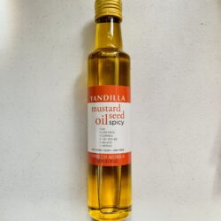 Image of the front of a bottle of Yandilla Mustard Seed Oil