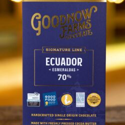 Image of the front of package of Ecuador Esmereldas 70%, by Goodnow Farms