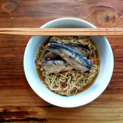 Image of Fish Dish: Sardines in Sweet Soy, Tomato, and Kelp Ramen